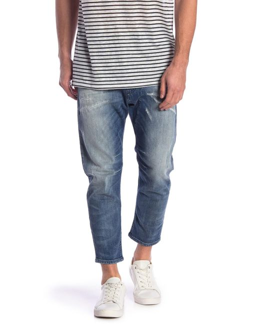 1797a866 DIESEL - Blue Narrot Slim Distressed Jeans for Men - Lyst ...