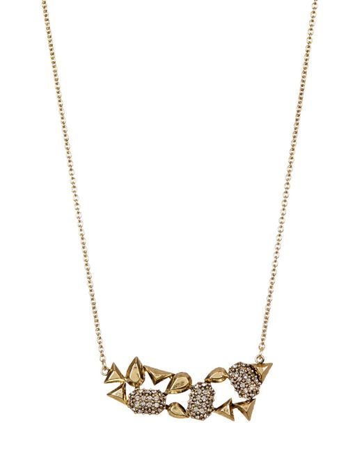 House of Harlow 1960 - Metallic The Theia Pave Necklace - Lyst