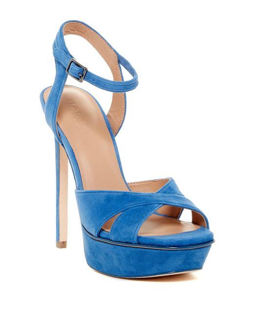 Halston Heritage | Blue Naomi Platform Sandal | Lyst