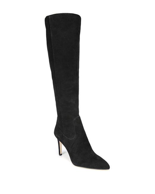 Sam Edelman - Black Olencia Suede Leather Knee High Boot - Lyst