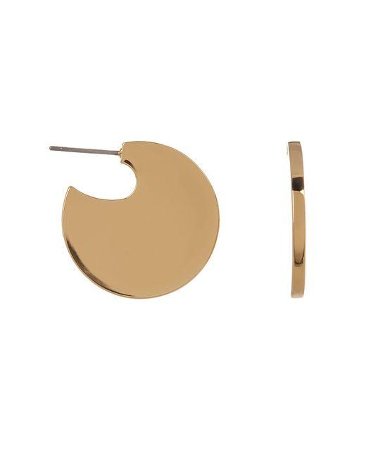 Trina Turk - Metallic Flat Circle 25mm Hoop Earrings - Lyst