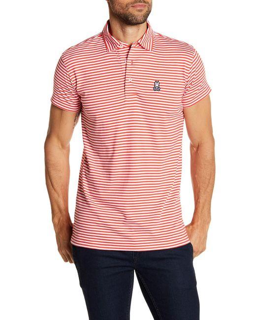 Psycho Bunny | Multicolor Garment Wash Stripe Polo Shirt for Men | Lyst