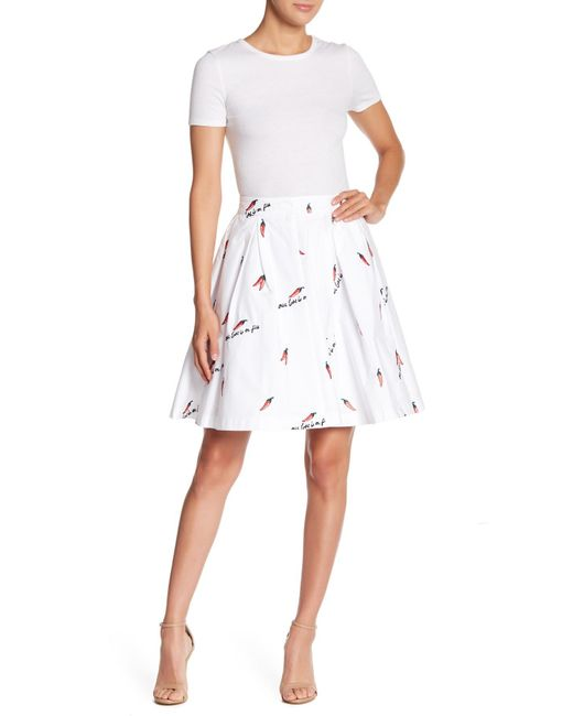 Endless Rose - White Chili Embroidered Skirt - Lyst