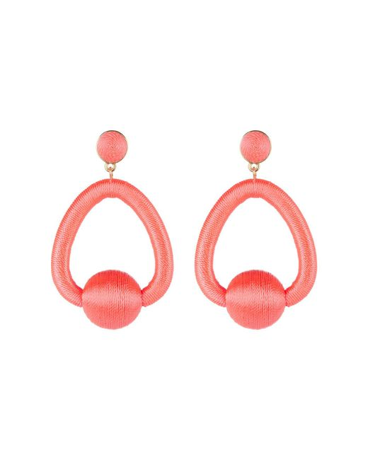 BaubleBar - Multicolor Mariela Woven Hoop Drop Earrings - Lyst