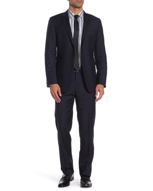 Hickey Freeman Milburn Im Series Blue Check Classic Fit Wool Suit for men