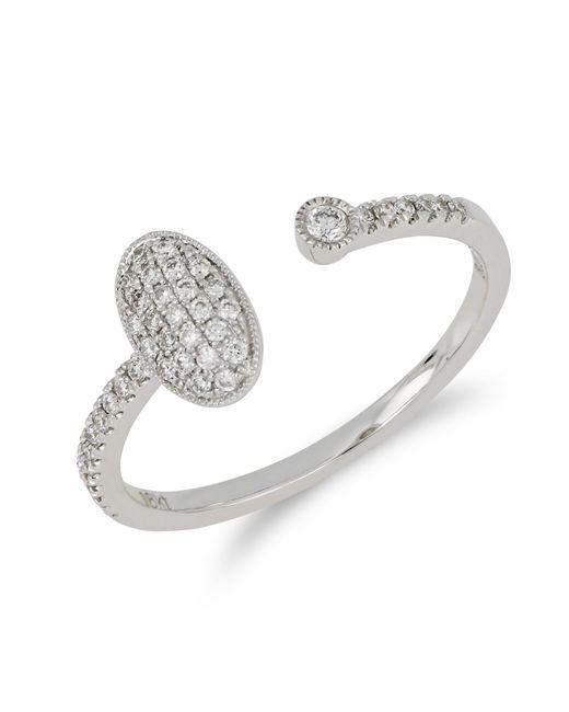 Bony Levy - Metallic 18k White Gold Bezel & Pave Diamond Cuff Ring - Lyst