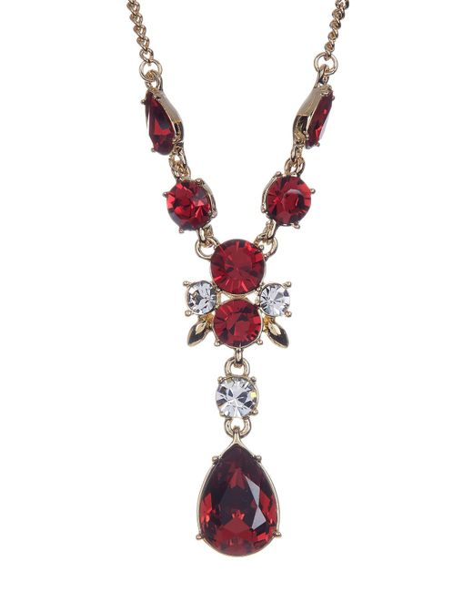 Givenchy | Metallic Crystal Accented Y-necklace | Lyst