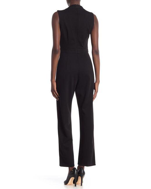 b35788b94a ... T Tahari - Black Sleeveless V-neck Jumpsuit - Lyst