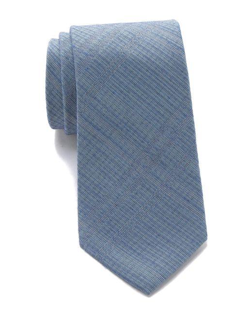 Calvin Klein - Blue Broken Windowpane Tie for Men - Lyst
