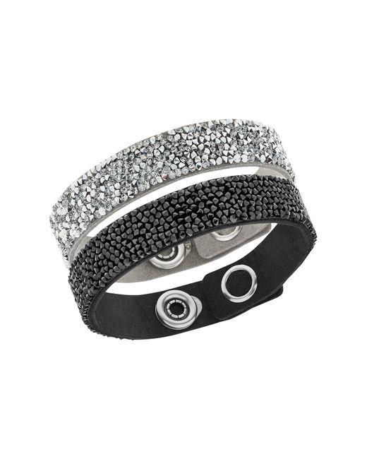 Swarovski | Multicolor Crystal Rock Bracelet - Set Of 2 | Lyst