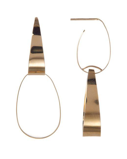 Lana Jewelry - Metallic 14k Yellow Gold Gloss Link Double Drop Earrings - Lyst