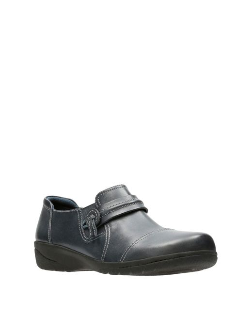 505dc3ea974 Clarks - Blue Cheyn Madi Leather Slip-on Loafer - Wide Width Available -  Lyst ...