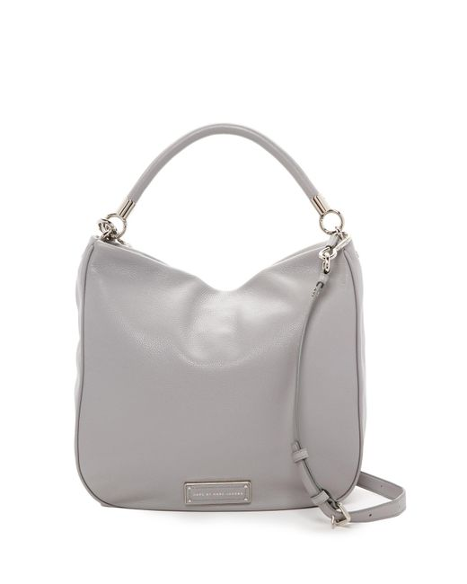 Marc Jacobs | Gray Leather Hobo | Lyst