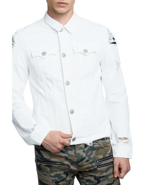 True Religion - White Danny Denim Trucker Jacket for Men - Lyst