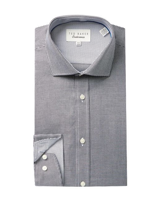 Ted Baker | Black Endurance Trim Fit Dobby Dress Shirt for Men | Lyst