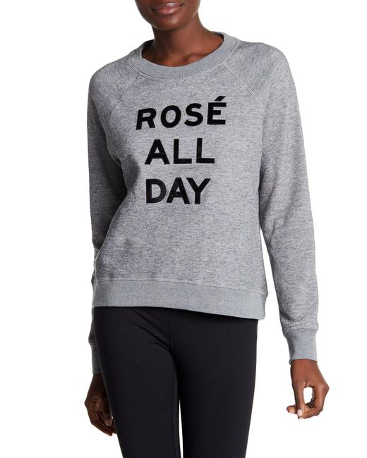 Betsey Johnson | Gray Rose All Day Sequin Pullover | Lyst