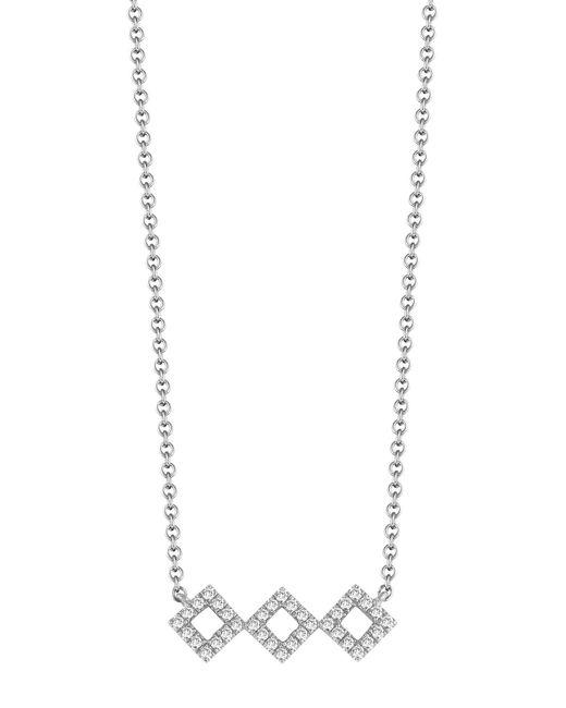 Dana Rebecca - Metallic 14k White Gold Diamond Accented Lisa Michelle Necklace - 0.13 Ctw - Lyst