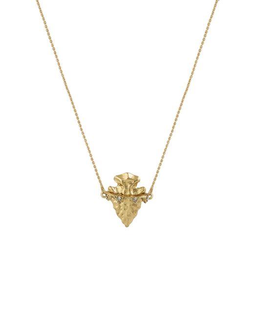 House of Harlow 1960 - Metallic Mini Arrowhead Pendant Necklace - Lyst