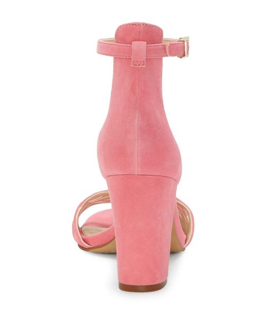 4e554532a709 Lyst - Vince Camuto Caveena Block Heel Sandal (women) in Pink - Save 27%