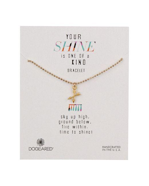 Dogeared - Metallic 14k Gold Vermeil Your Shine Crossing Arrows Bracelet - Lyst
