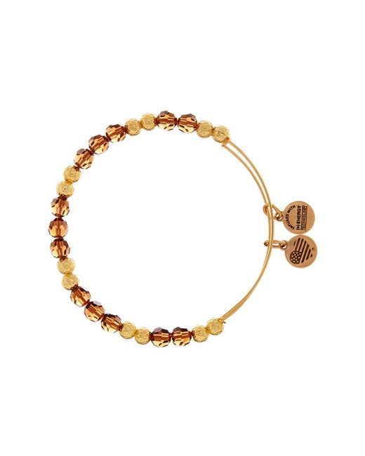 ALEX AND ANI | Metallic Golden Days Wish Wrap Beaded Bangle | Lyst