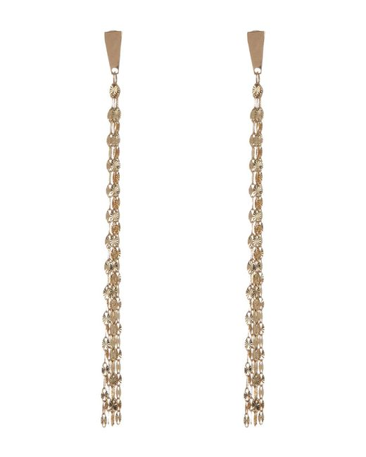 Lana Jewelry Metallic 14k Yellow Gold Fringe Earrings Lyst
