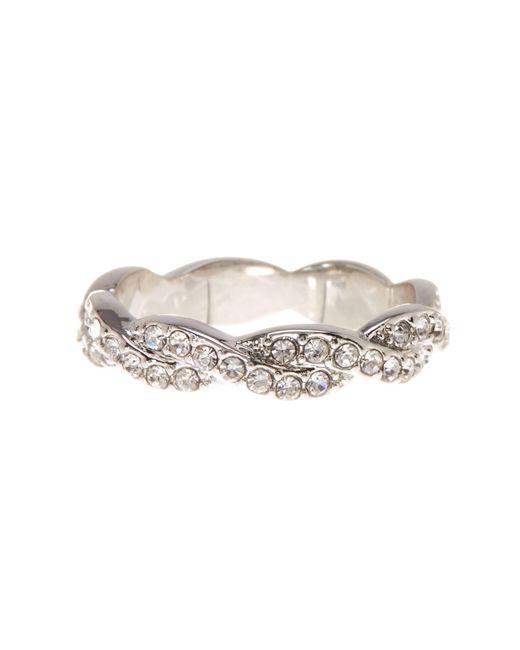 Ariella Collection | Metallic Cz Braided Band Ring | Lyst