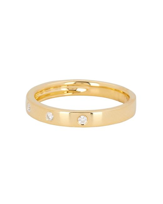 Ron Hami - Metallic 14k Yellow Gold Diamond Dot Band Ring - 0.07 Ctw - Lyst