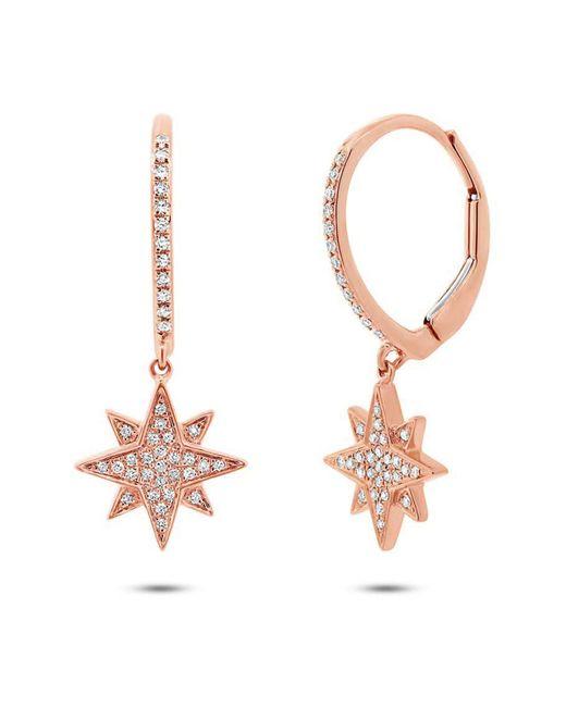 Ron Hami - Multicolor 14k Rose Gold Diamond Starburst Leverback Earrings - 0.17 Ctw - Lyst