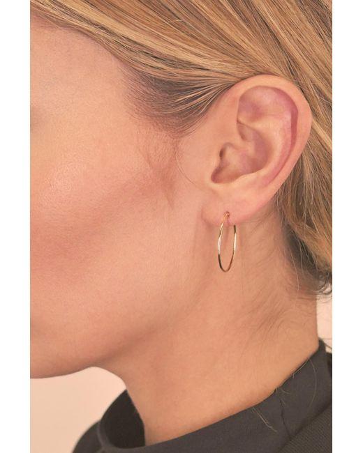 f22f2e90a Lyst Bony Levy 14k White Gold 20mm Ultra Thin Hoop Earrings