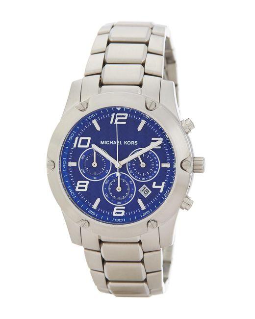 MICHAEL Michael Kors - Metallic Men's Caine Chronograph Bracelet Watch for Men - Lyst