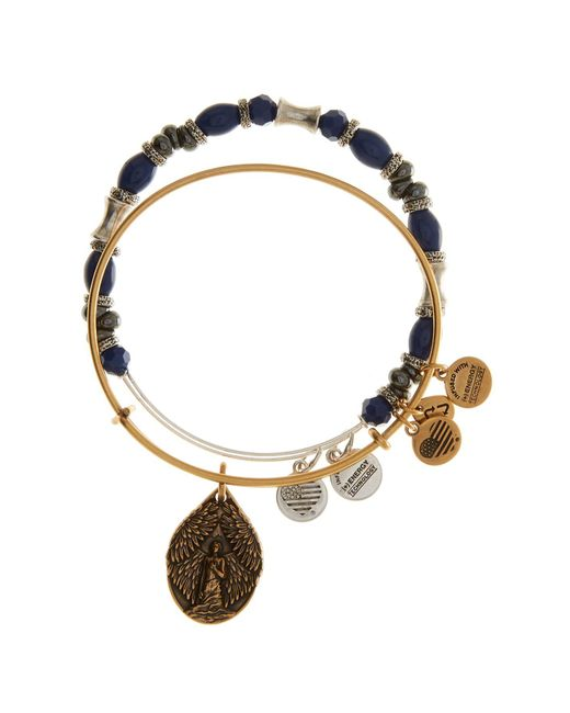 ALEX AND ANI - Blue French Royalty Beaded Guardian Angel Wire Bangle Bracelets - Set Of 2 - Lyst