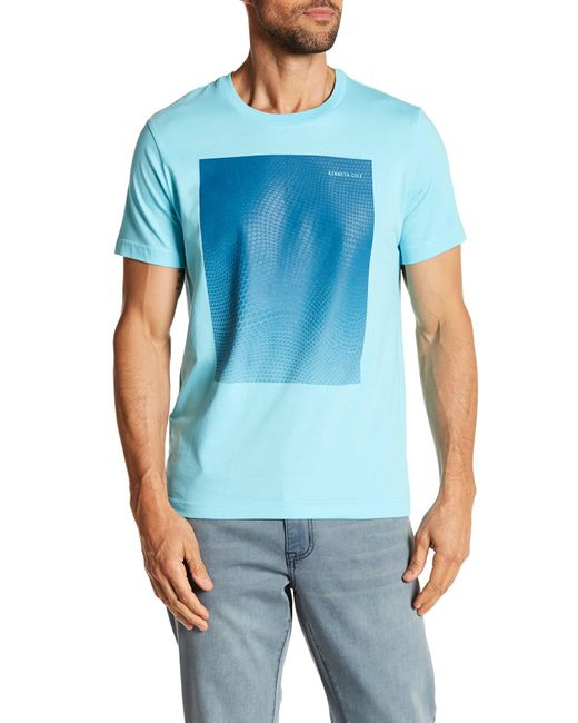 Kenneth Cole | Blue Ombre Hexagon Tee for Men | Lyst