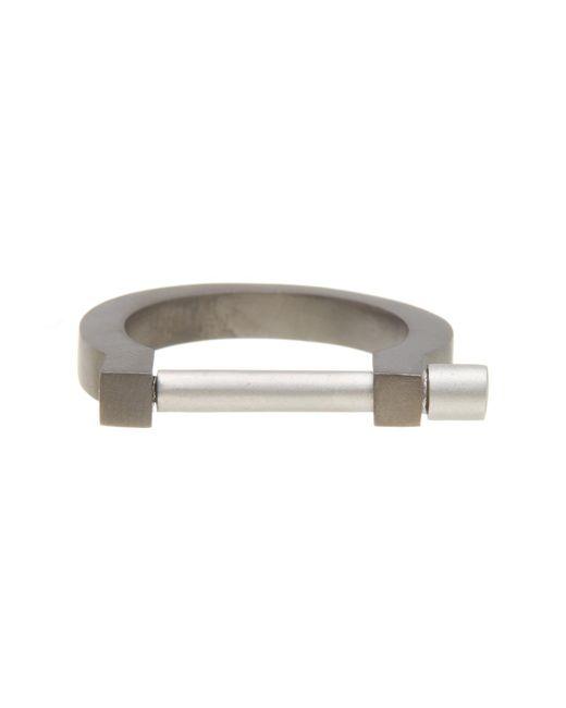 Miansai   Metallic Modern Screw Cuff Ring - Size 10   Lyst