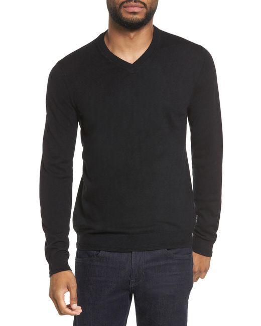 Ted Baker - Black V-neck Sweater for Men - Lyst