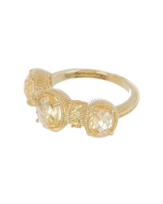 Judith Ripka - Metallic 14k Gold Plated Sterling Silver Mardi Gras Multi-gemstone Ring - Size 7 - Lyst