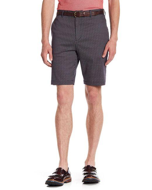 Perry Ellis Blue Geometric Modern Fit Shorts for men