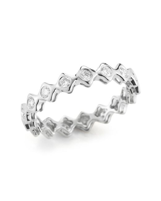 Dana Rebecca - Metallic 14k White Gold Diamond Sophia Ryan Stacking Band - 0.51 Ctw - Lyst
