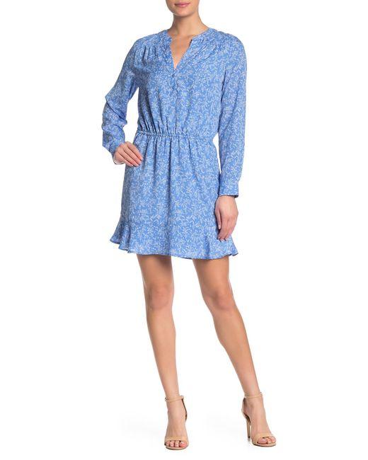 f1d7a56c1a5d8 Joie - Blue Acey Floral Long Sleeve Dress - Lyst ...