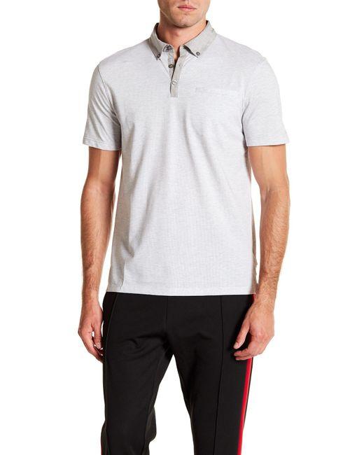 CALVIN KLEIN 205W39NYC - White Short Sleeve Allover Feeder Polo for Men - Lyst