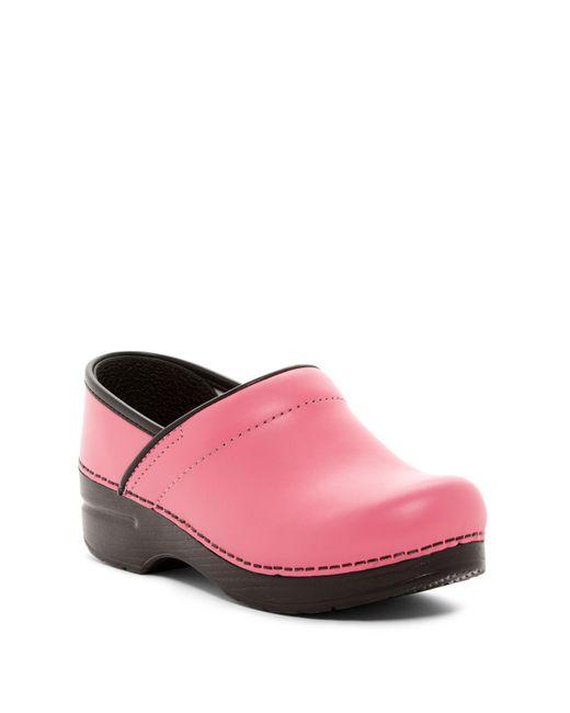 Dansko | Pink Professional Box Leather Clog | Lyst