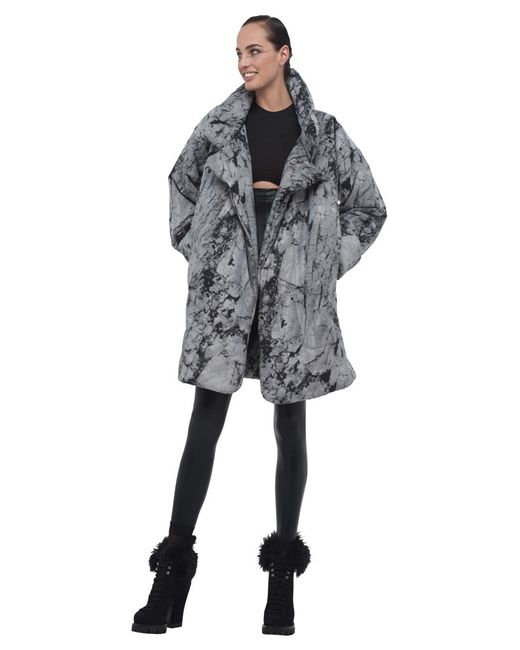 Norma Kamali | Gray Quilted Sleeping Bag Coat To Knee | Lyst