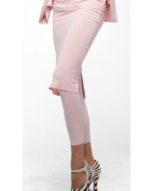 Norma Kamali | Pink Cropped Legging | Lyst