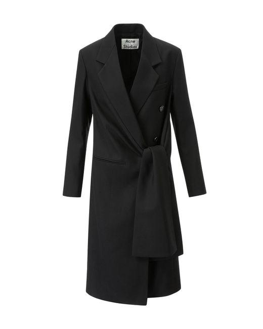 Acne - Black Lorin Struct Coat - Lyst