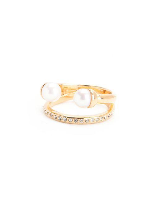 Vita Fede - Metallic Ultra Mini Double Pearl With Band Ring - Lyst