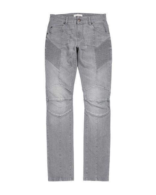 Balmain - Gray 16fw Biker Jeans Hp55202j S5202 806 for Men - Lyst