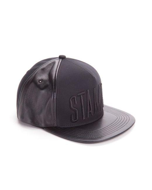 e2ef561f ... Stampd - Black Leather Padded Hat for Men - Lyst ...