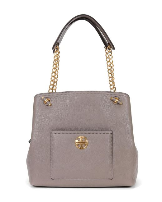 Tory Burch - Gray Chelsea Small Slouchy Tote - Lyst