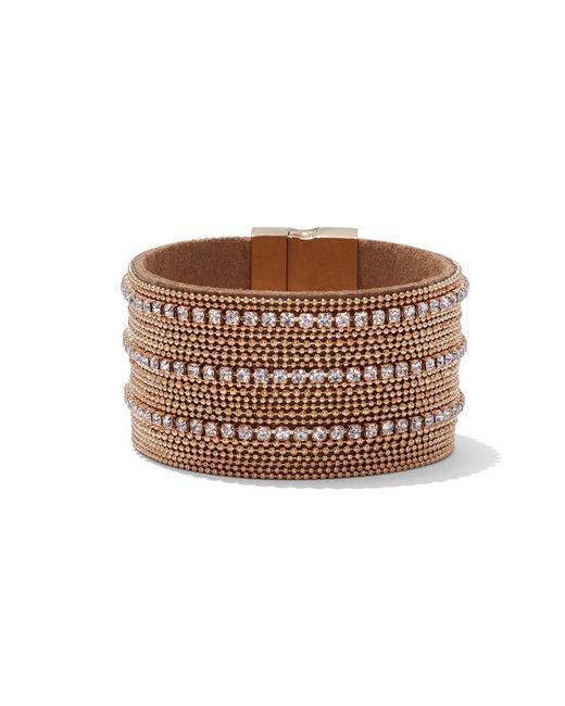 New York & Company - Metallic Sparkling Goldtone Wrap Bracelet - Lyst