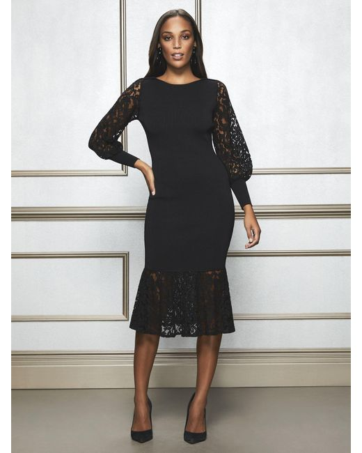 New York & Company - Black Eva Mendes Collection - Petite Kamala Sweater Dress - Lyst